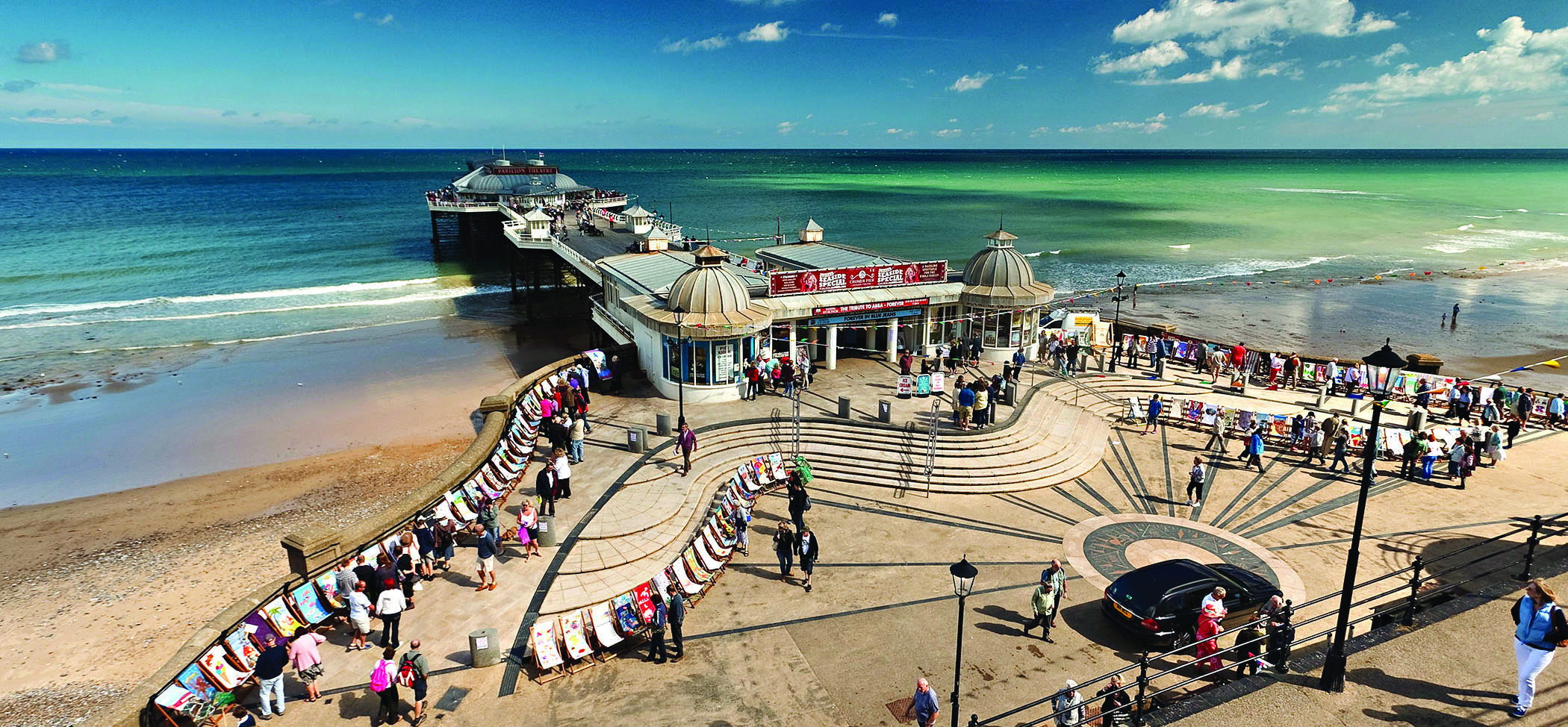 Cromer Pier from above