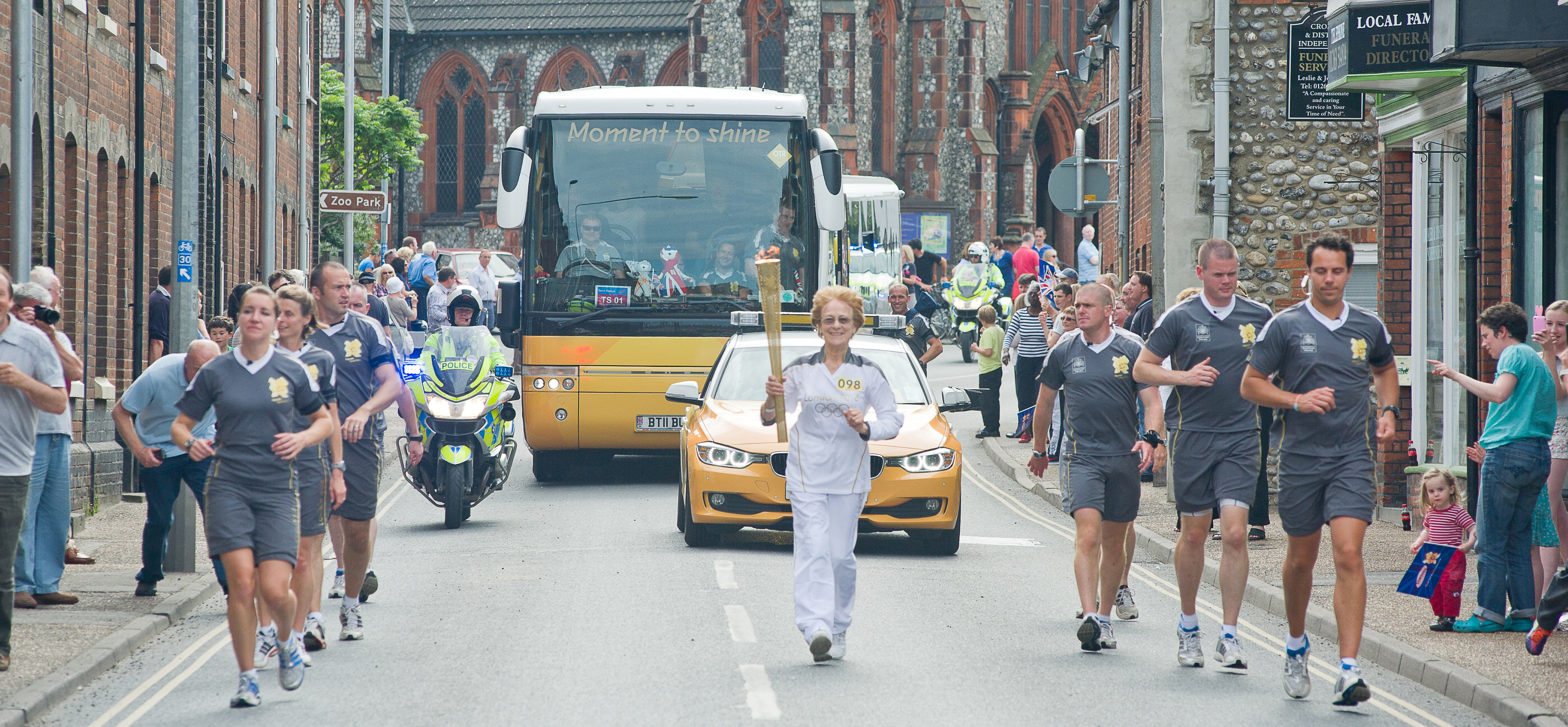 Olympic Torch comes to Cromer