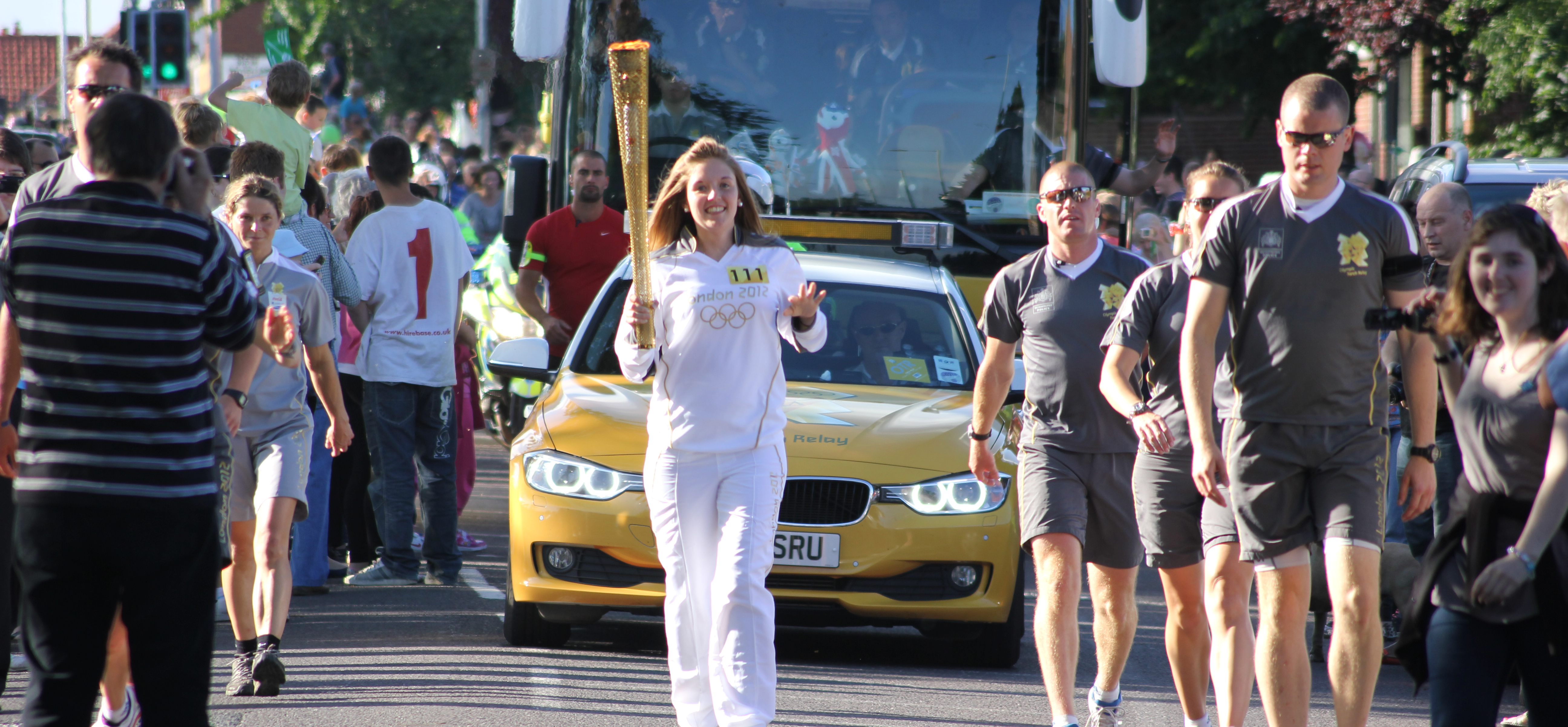Olympic Torch comes to Hellesdon
