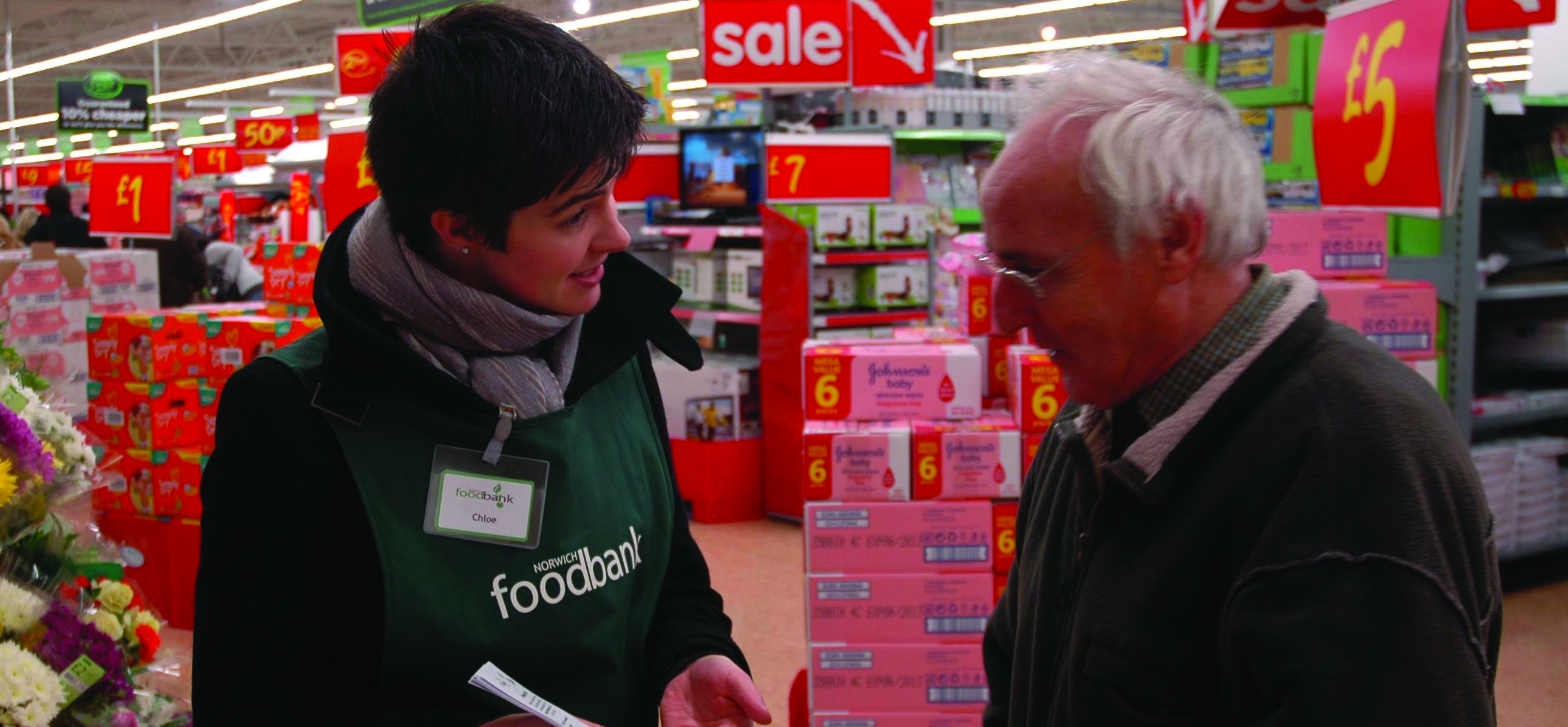 Chloe Smith MP visits Asda, Hellesdon