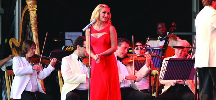 Katherine Jenkins performing at Blickling Hall