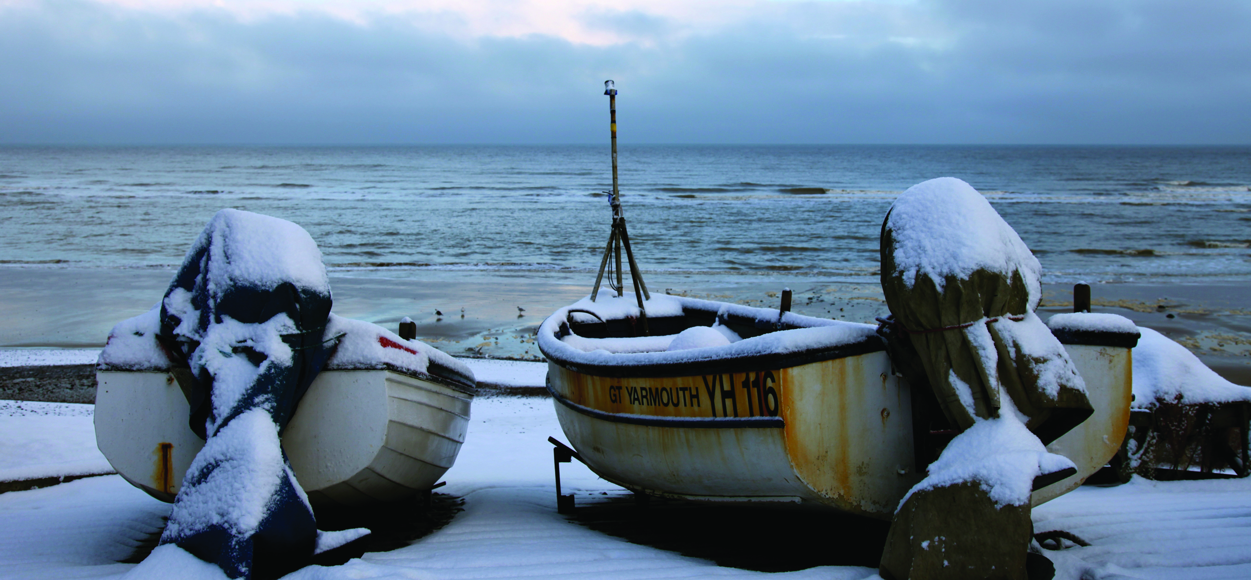 Sheringham Fishing Boats in Winter