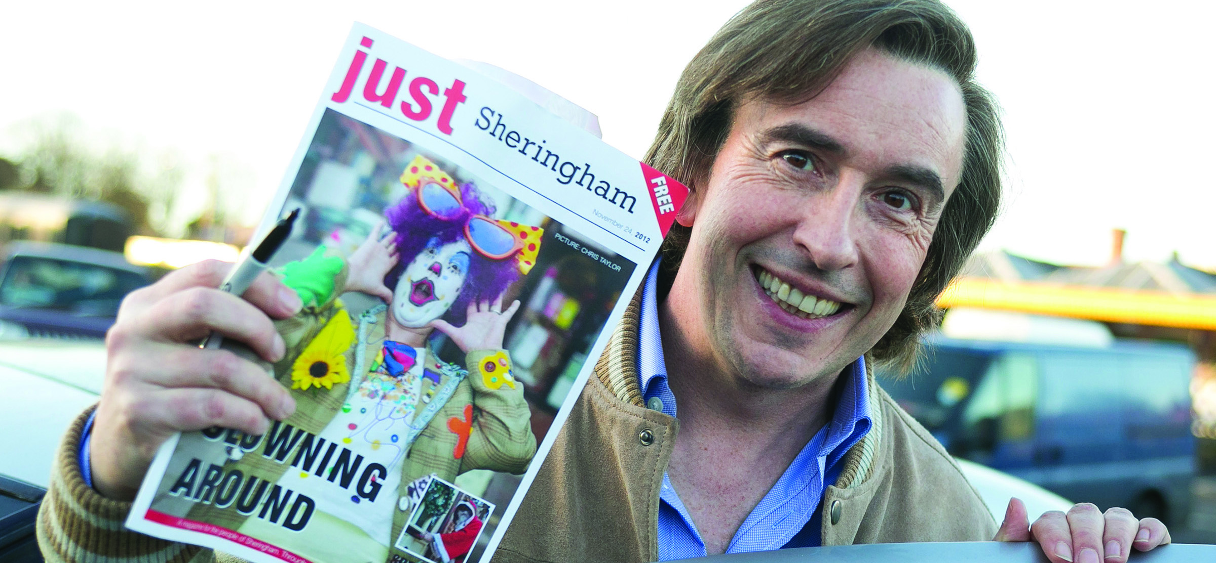 Alan Partridge Enjoying His Just Sheringham