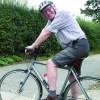 Norman Lamb on his bike to raise funds for local causes