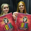 Chloe and Paris Chandler with the Evita Posters