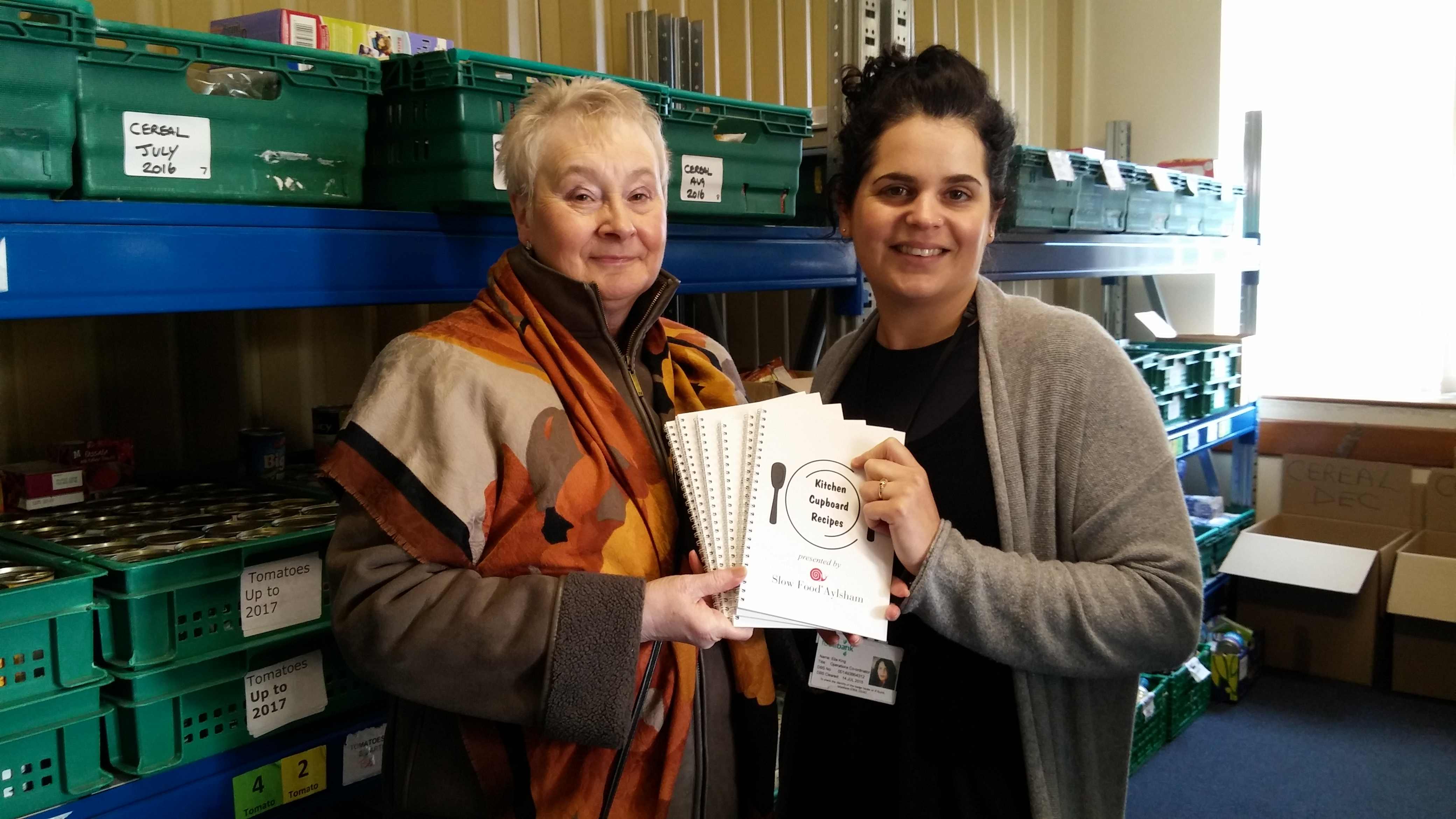 Slow food aylsham donates 100 recipe books to foodbank cromer district foodbank project manager ella king right received the recipe booklets forumfinder Gallery