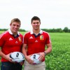 Tom and Ben Youngs who will be cutting the ribbon alongside Russell Martin and Nigel Worthington