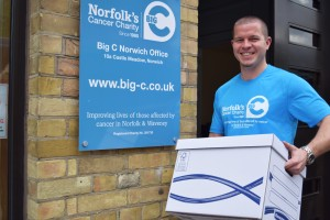 Big C Events Manager Dan Bell preparing for the charity's move to Centrum