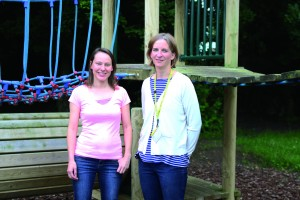 Drayton Community Infant School Friends vice chair Angie Crocker (left) and new chair Maria Voors; a new bike shed is the current big fundraising project.