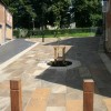 The new paved area at Church Hill