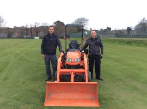 Matthew Jordan and Peter Cooper, groundsmen at Cromer Lawn Tennis Club will shortly be taking ownership of two Wimbledon mowers at the start of next year.