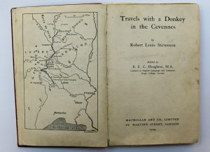 the-title-page-from-travels-with-a-donkey-in-the-cevennes